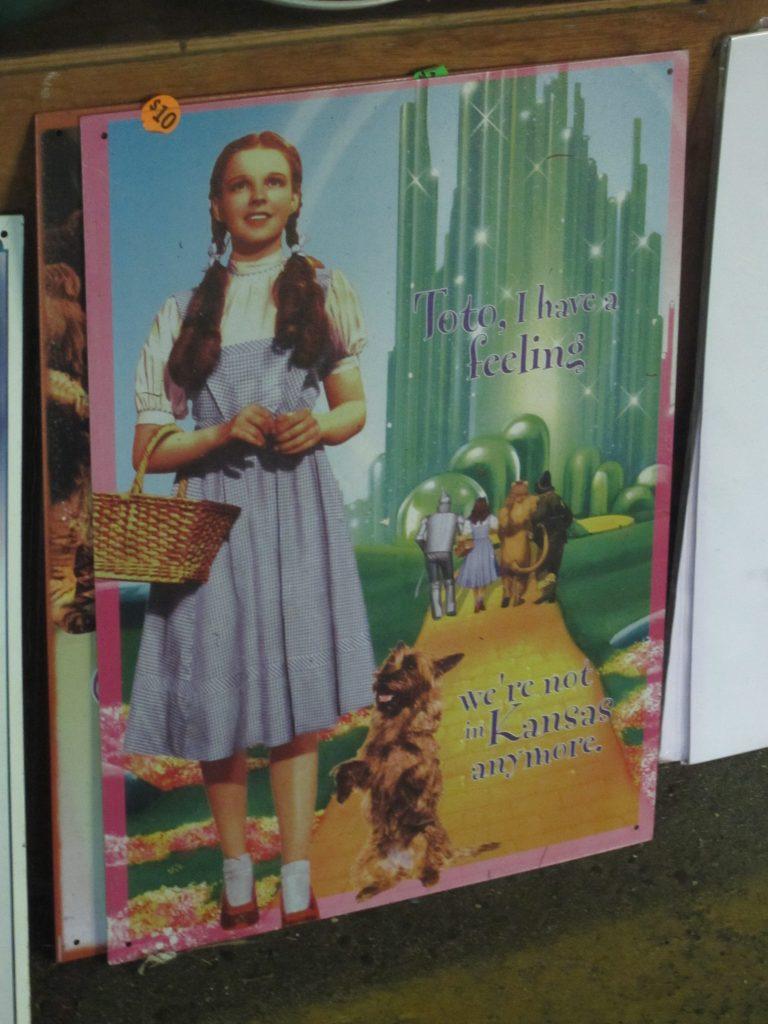 Pancarte du Magicien d'Oz