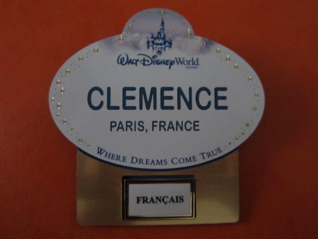 Mon badge à Disney World