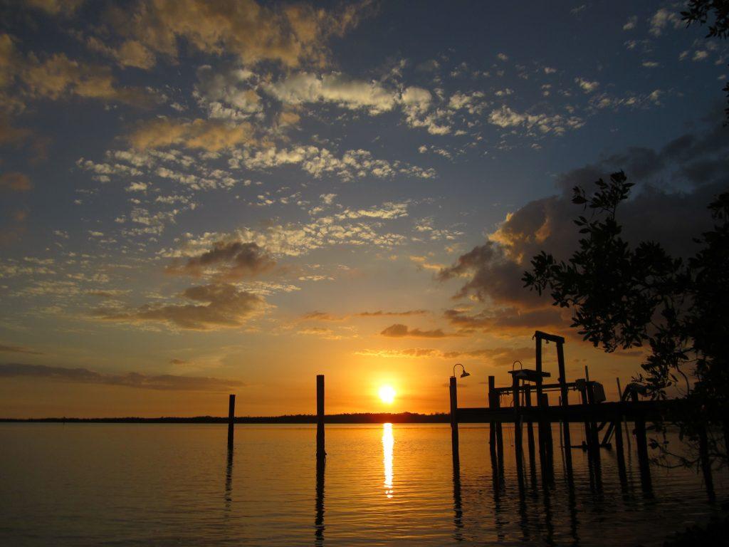 Coucher de soleil à proximité de Sanibel Island