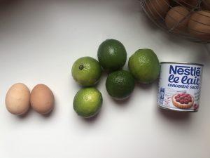 Ingrédients Key Lime Pie